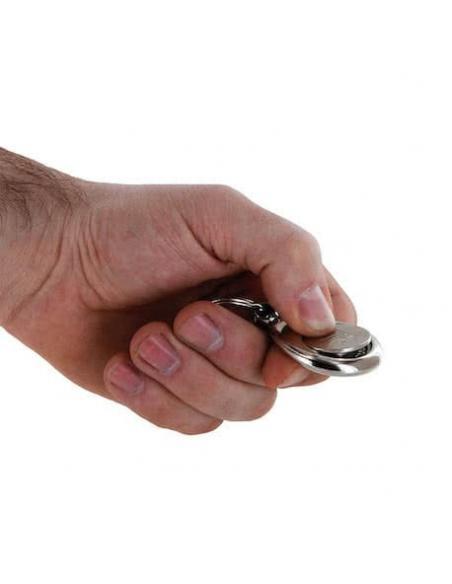 Die Blume des Lebens - Schlüsselanhänger mit Einkaufs-Chip von AQUARIUS pro life