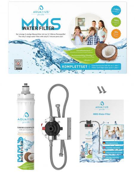 MMS-Water-Filter 3- Stufen-Trinkwasserfilter-mit-0,1 Mikron Porengrösse von AQUARIUS pro life