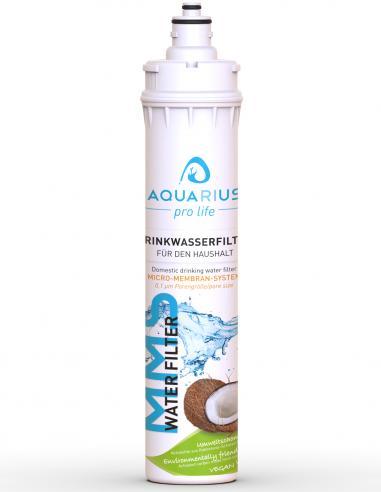 MMS-Water-Filter Ersatzkartusche 3- Stufen-Trinkwasserfilter-mit-0,1 Mikron Porengrösse von AQUARIUS pro life