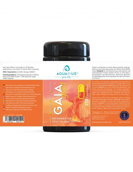 Zeolith-Bentonit-Mix GAIAgold CAPS 370 Stk. (informiert) AQUARIUS-pro-life